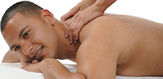 Sensual massage- boy on his front